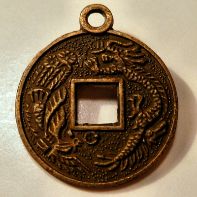 Chinese Coin Charm