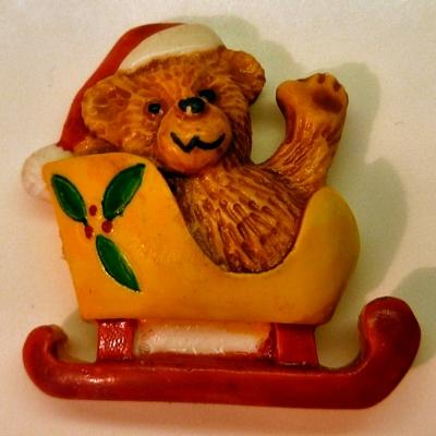 Santa Bear in Sleigh