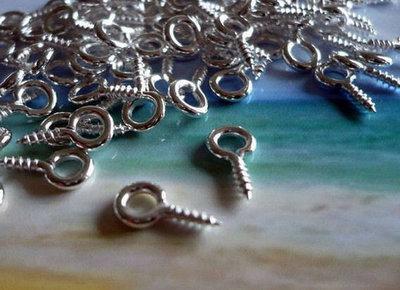 Screw Eye Bail - Silver Plated (tiny)