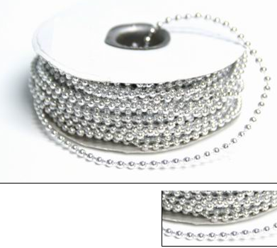 Silver String Beads