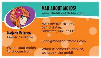 Mad About Molds Business Cards (Download)