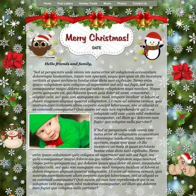 Christmas Holiday Letter Greeting Card Family Home Love Yuletide Celebration Group Children Class Generations Relationship Relatives Friends Siblings Kith and Kin Newsletter Bulletin Journal Blog