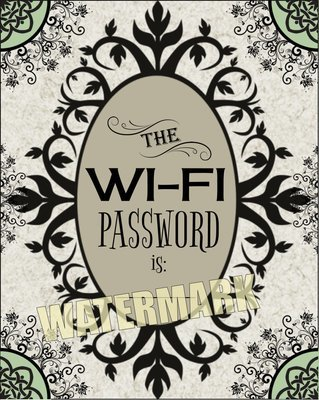 Display your Wi-Fi Password for all to see. Instant Digital Download Print Wall Decor Graphic Art Printable Poster Home Office Wi-Fi DIY