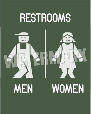 Restroom Signs Women Men Instant Digital Download Print Wall Decor Graphic Art Printable Home Office DIY