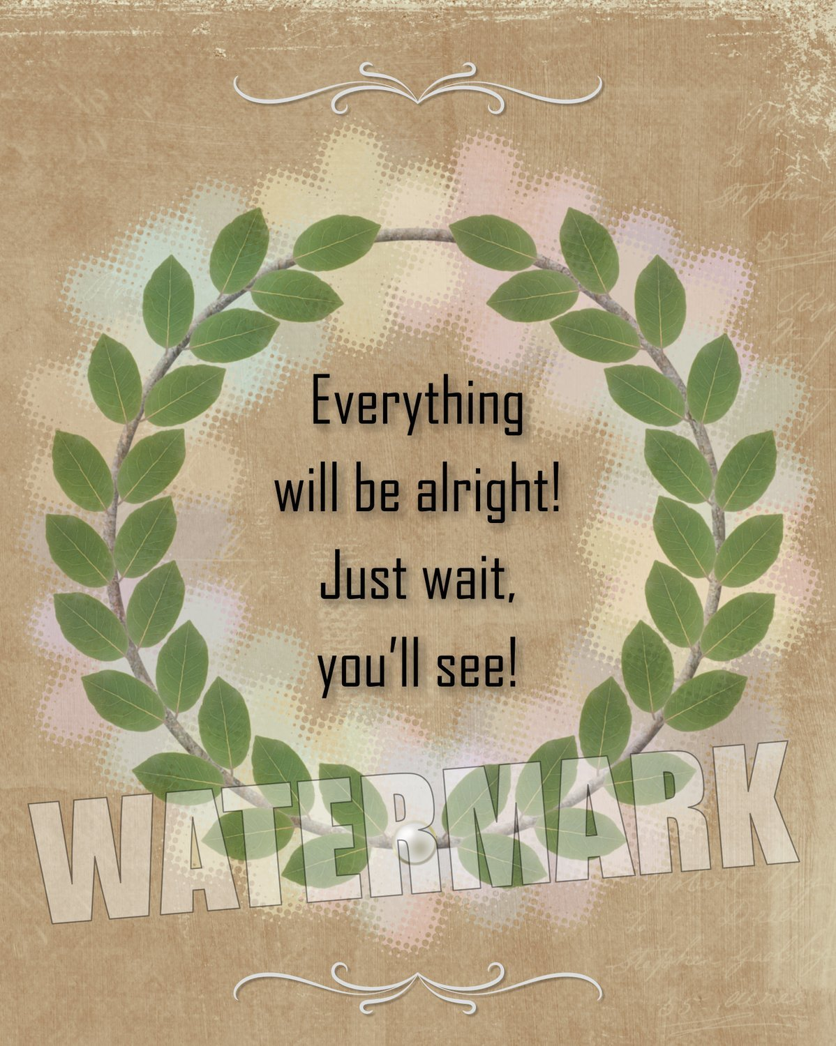 Everything will be alright… Quote Message Instant Digital Download Print Wall Decor Graphic Art Printable Home Office (Download)