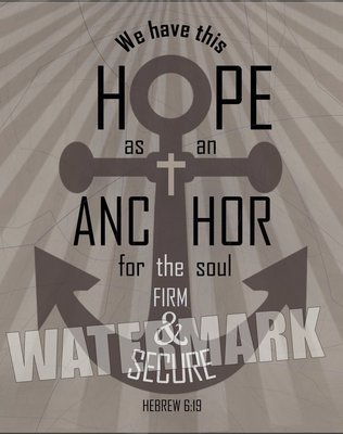 Hope Anchor. Hebrew 6:19. Scripture Verse Inspirational Message Instant Digital Download Print Wall Decor Graphic Art Printable Home Office DIY