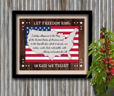 Patriotic America Veterans Instant Digital Download Print Wall Decor Graphic Art Printable Home Office DIY