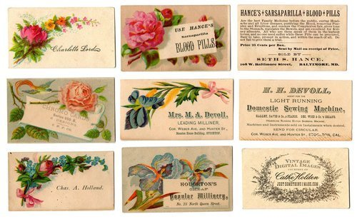 Vintage Calling Cards & Trade Cards (Download)