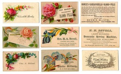 Vintage Calling Cards & Trade Cards (Download)