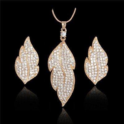 Austrian Crystal Leaf Set