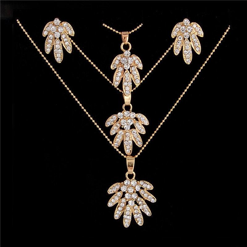 Austrian Crystal Triple Necklace Set 002200