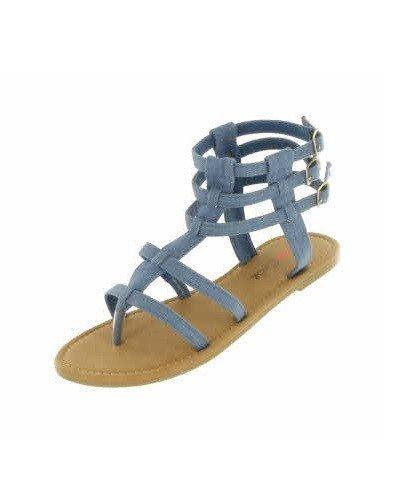 Denim Gladiator Sandal