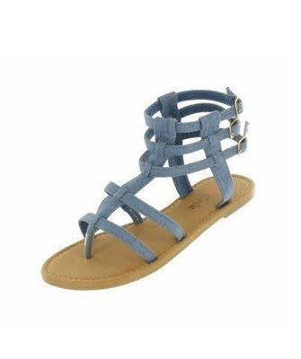 Denim Gladiator Sandal