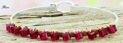 Fuchsia Crystal Bangle