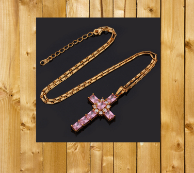 18KT Gold Plate Cross