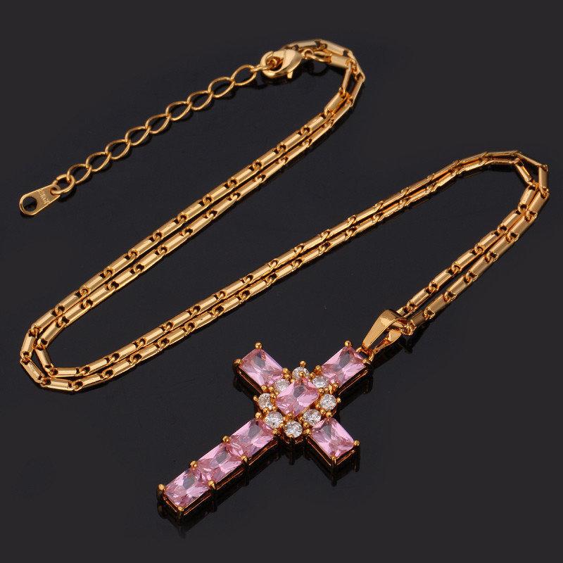 18KT Gold Plate Cross