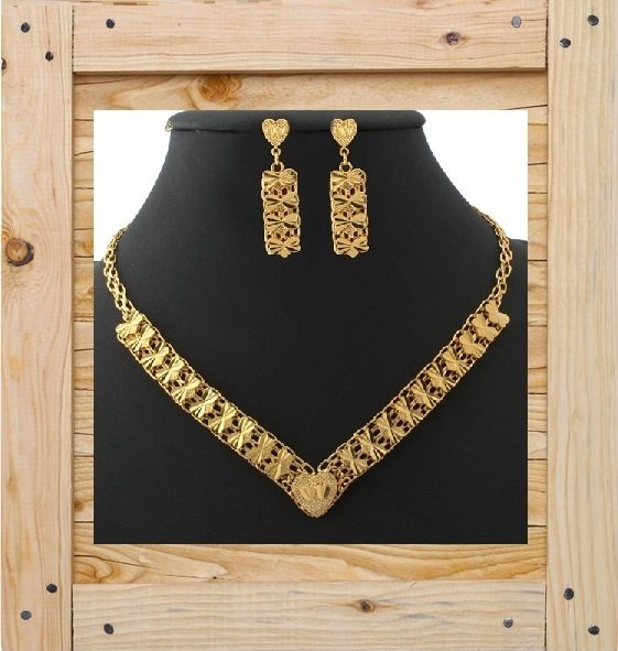 18KGP Chain Necklace Set 18KGP941