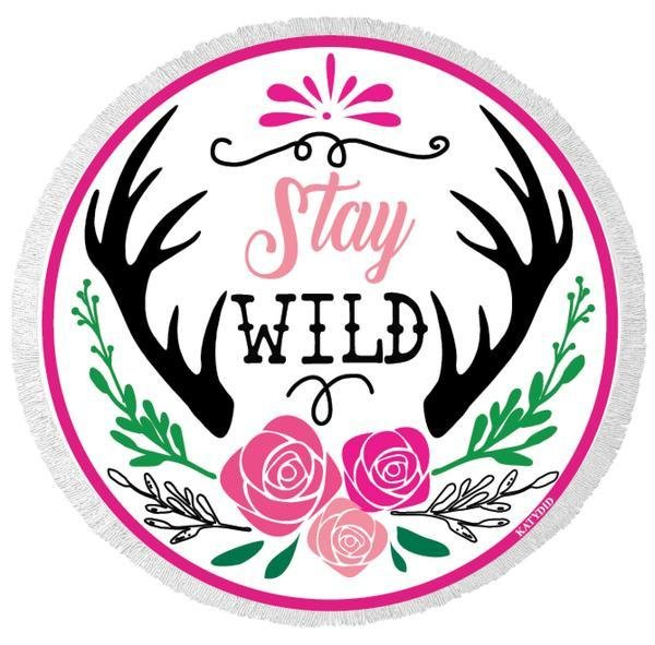 Stay Wild Beach Towel