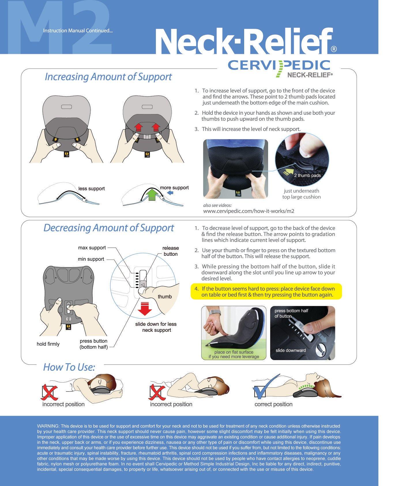 Neck-Relief M2 - Instructions cont.