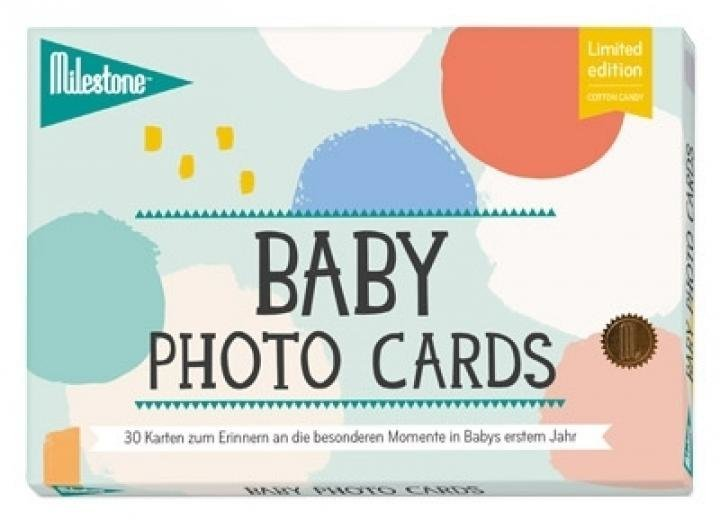 "Baby photo cards ""COTTON CANDY"""