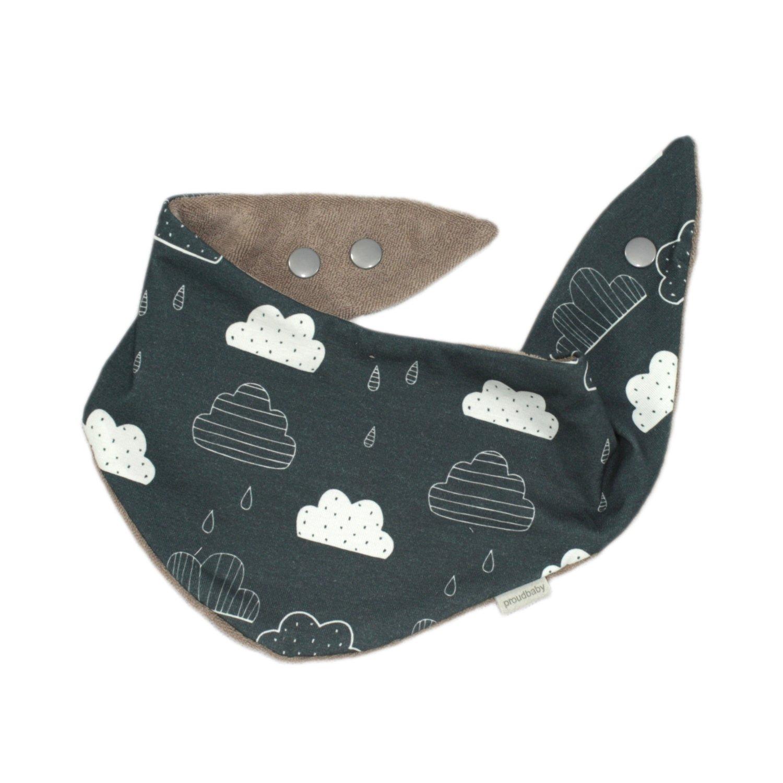 Halstuch/Spucktuch Wolken rauchblau
