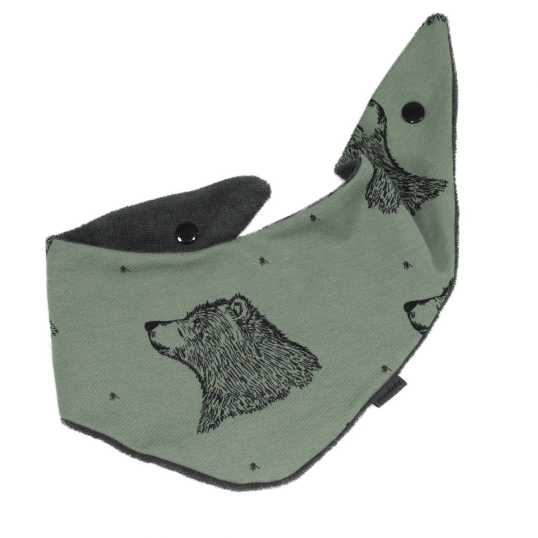 Halstuch/Spucktuch Bären grün