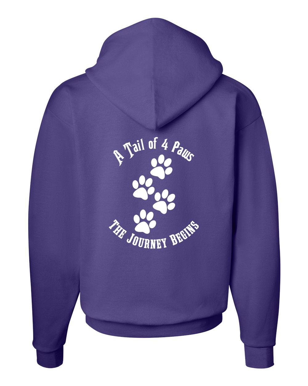 Purple Back Hoodie