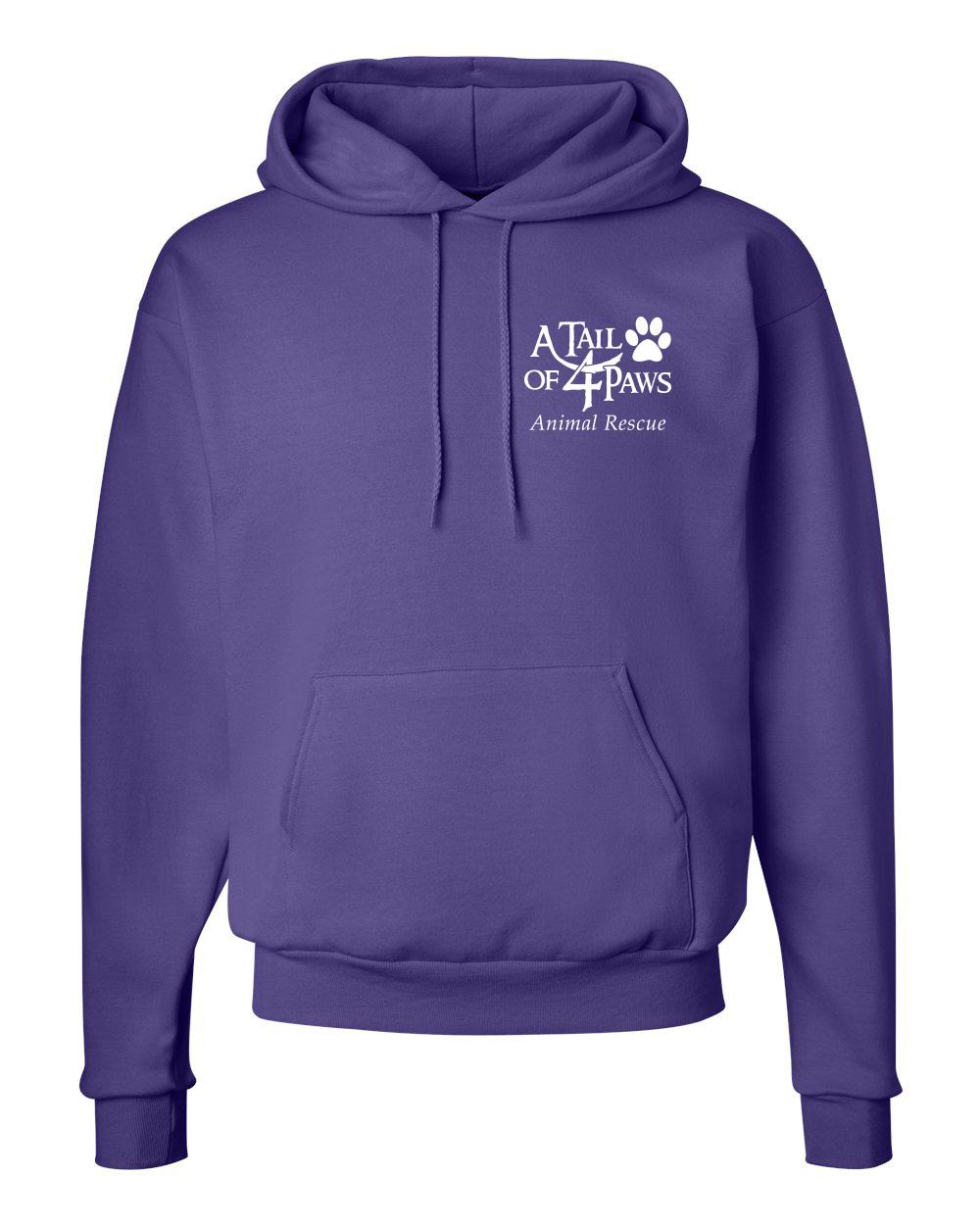 Purple Front Hoodie
