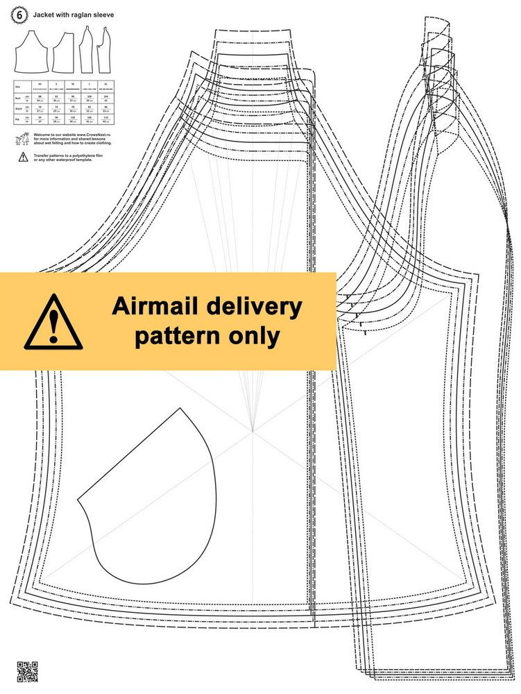 Ptn.6 / Raglan sleeve jacket