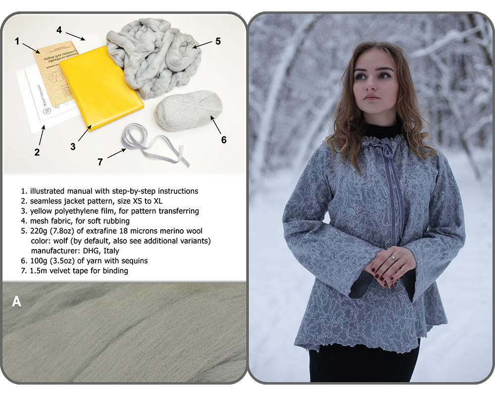 "#18 Cape jacket ""Winter Fairytale"""
