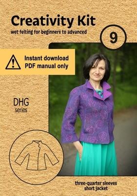 Dhg.9 / 3/4 sleeve short jacket