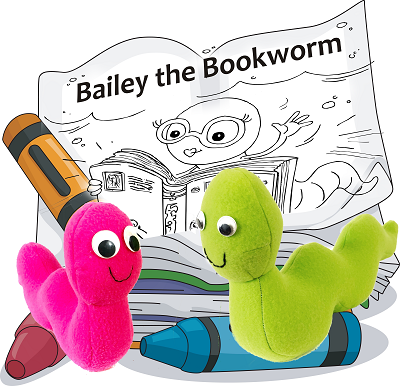 Bookworm Pattern with Coloring Storybook
