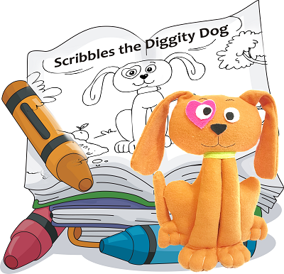 Dog Sewing Pattern with Coloring Storybook