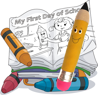 Plush Pencil Pattern with Coloring Storybook