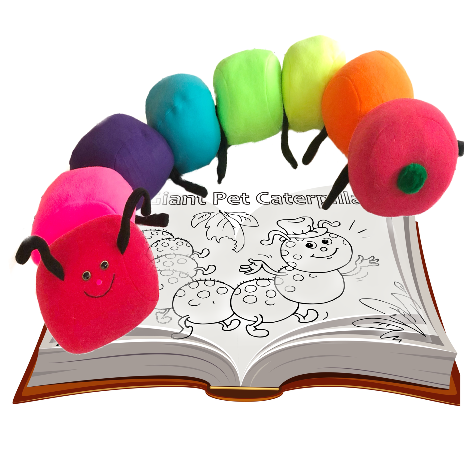 Caterpillar Pattern with Coloring Storybook