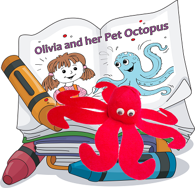 Octopus Pattern with Coloring Storybook