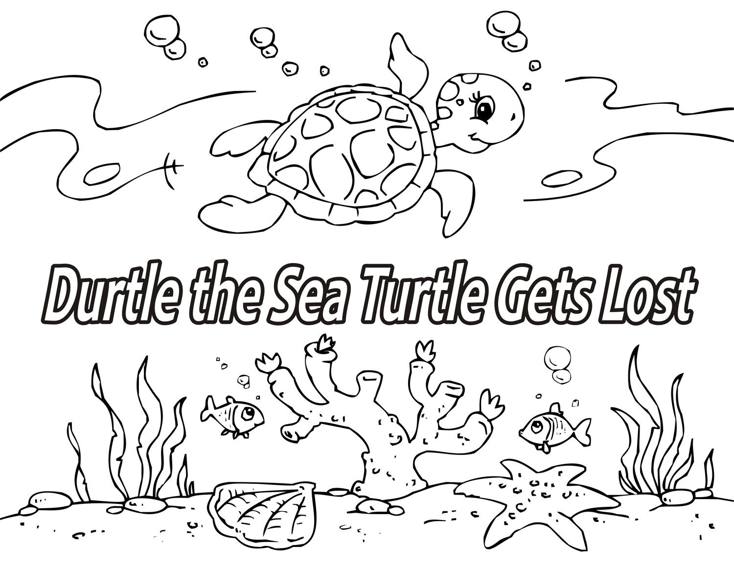 Coloring Storybook / Durtle the Sea Turtle Gets Lost
