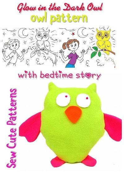 Owl Sewing Pattern with Coloring Storybook