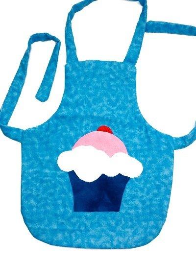Children's Apron Pattern with Cupcake Applique - Preschool
