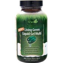 IRWIN NATURALS Mens Living Green Liquid Gel Multi Vitamin