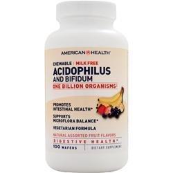 AMERICAN HEALTH Chewable Acidophilus and Bifidum (with 1 billion organisms)