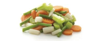 Een gezonde groenten mix Wortel, knolselder, schorseneren en courgette 2.5 kg