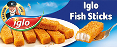 Fish Sticks 8x30g Iglo