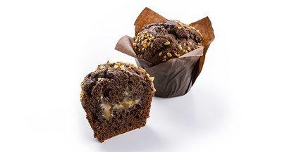 Muffin met chocolade en salted caramel 110g