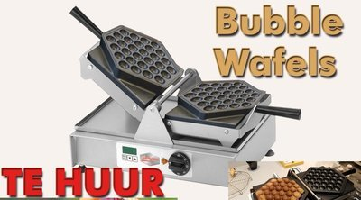 Bubbelwafels machine bruikleen