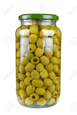 Groen olijf z/p 935 ml glas