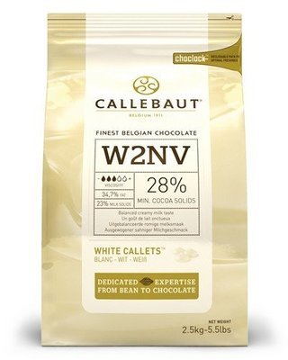 Callets wit chocolade 2.5 kg