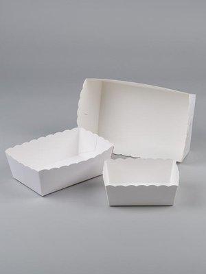 Karton friet bakje met papier P 2 /100st prijs per 1000st