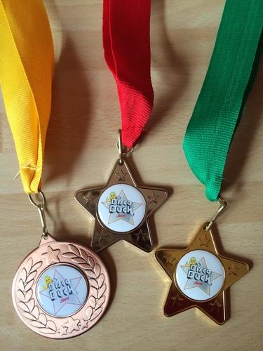 Disco Duck Stars - Medals - Bronze/Silver/Gold