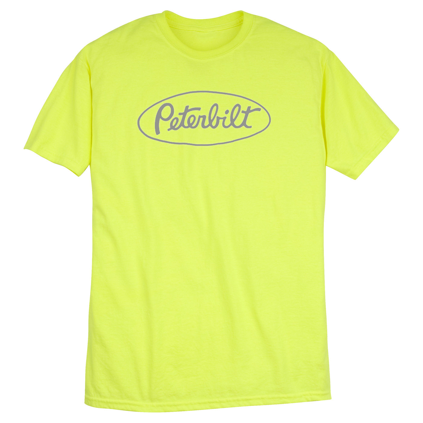 peterbilt safety green logo t shirt t shirts parts